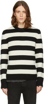 Rag & Bone Black and Off-White Shane Sweater