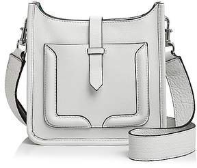 Rebecca Minkoff Feed Mini Leather Crossbody - BIANCO/GREEN/SILVER - STYLE