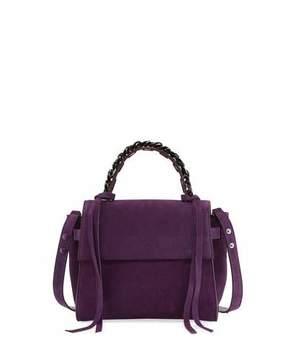 Elena Ghisellini Angel Small Suede Top Handle Bag