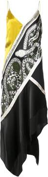 Barbara Bui asymmetric snake patterned dress