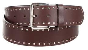 Jil Sander Leather Grommet Belt