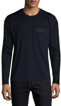 Prada Linea Rossa Men's Solid Pocket Sweater