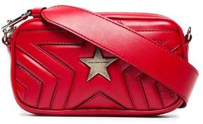 Stella McCartney red star PU crossbody bag
