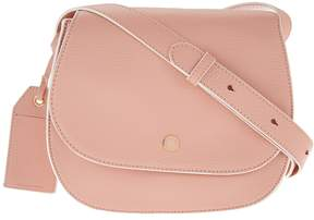 Isaac Mizrahi Live! Nolita Pebble Leather Saddle Handbag