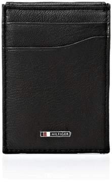 Tommy Hilfiger Men's Lloyd Slim Magnetic Front Pocket Wallet Black