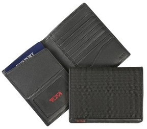 Tumi Men's Alpha Passport Case - Black
