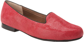Ros Hommerson Red Lizard Omara Leather Loafer - Women