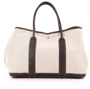 Hermes Pre-owned: Garden Party Tote Toile And Leather 36. - NEUTRAL - STYLE