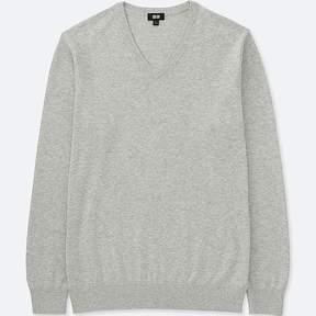 Uniqlo Men's Washable V-Neck Long-sleeve Sweater