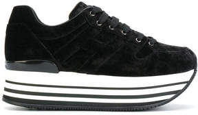 Hogan lace up platform sneakers