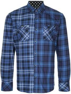 GUILD PRIME star back plaid shirt