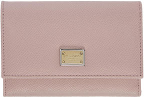 Dolce & Gabbana Pink Small Foldover Wallet
