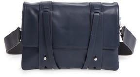 AllSaints Fin Lambskin Leather Messenger Bag - Blue
