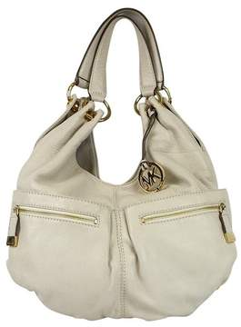 Michael Kors Cream Leather Hobo Handbag - CREAM - STYLE