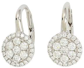 Frederic Sage 18K White Gold Firenze Diamond Small Cluster Earrings