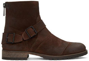 Belstaff Brown Burnished Suede Trialmaster Boots