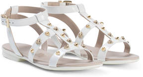 Versace White Medusa Gold Shell Sandals