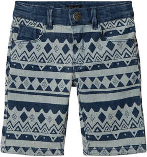 Ikks Blue Tribal Denim Shorts