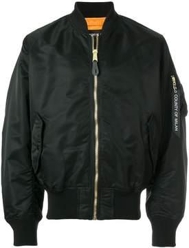 Marcelo Burlon County of Milan classic zipped bomber jacket