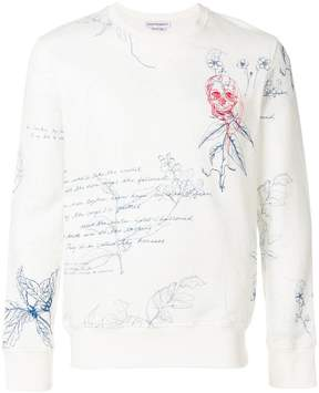 Alexander McQueen Letters from India print sweatshirt