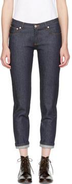 A.P.C. Navy Étroit Court Jeans