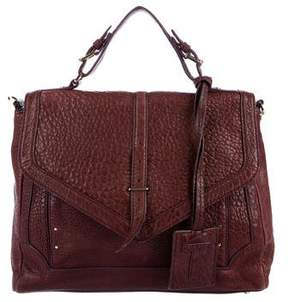 Tory Burch 797 Grained Leather Satchel - BURGUNDY - STYLE