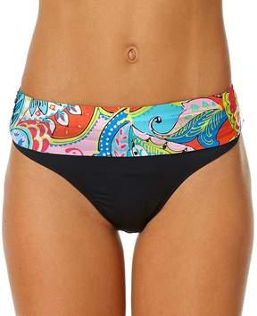 Anne Cole Blue & Black Paisley Fold-Over Bikini Bottoms - Women