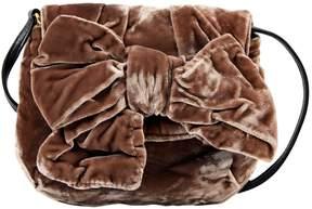 Miu Miu Brown Cloth Clutch Bag