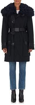 Acne Studios Women's Cornel Shearling-Trimmed Cotton Coat