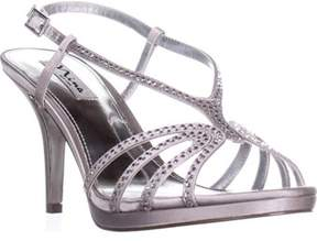 Nina Bobbie Evening Slingback Dress Sandals, Silver Jolie.