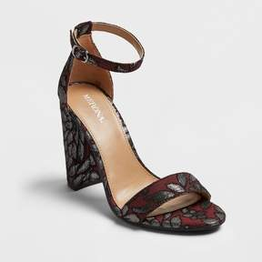 Merona Women's Lulu Brocade Block Heel Sandal Pumps