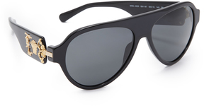 Versace Medusa Flat Top Sunglasses