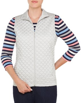 Allison Daley Stand Collar Diamond Quilted Vest