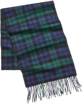 Club Room Men's Cashmere Blackwatch Plaid Scarf, Created for Macy's