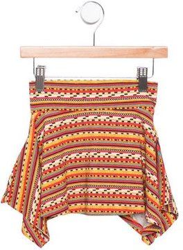 Junior Gaultier Girls' Draped Printed Skirt