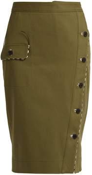 Altuzarra Curry asymmetric-front cotton-drill skirt
