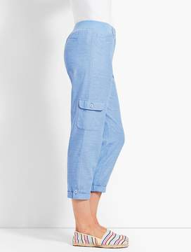 Talbots Chambray Poplin Relaxed Crop