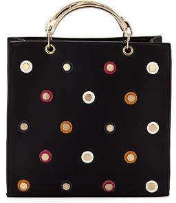 Neiman Marcus Confetti Studded Satchel Bag