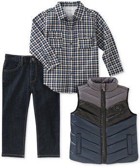 Calvin Klein 3-Pc. Vest, Shirt & Pants Set, Little Boys (4-7)