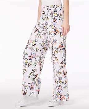 Bar III Printed Wide-Leg Pants, Created For Macy's