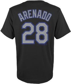 Majestic Boys 4-18 Colorado Rockies Nolan Arenado Player Name and Number Tee