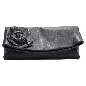 Giuseppe Zanotti Black Leather Clutch Bag