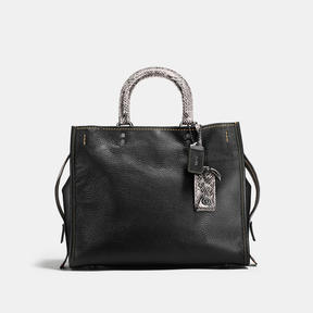 COACH Coach Rogue In Pebble Leather With Colorblock Snake Detail - BLACK COPPER/BLACK - STYLE