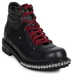 Alexander McQueen Studded Leather Hiking Boots