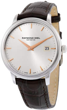 Raymond Weil Toccata Silver Dial Brown Leather Men's Watch