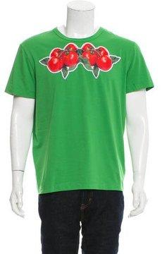 Dirk Bikkembergs Tomato-Appliqué Crew Neck T-Shirt w/ Tags