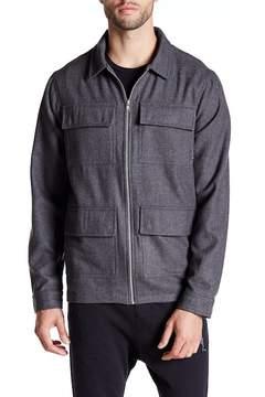Religion Tremor Wool Zip-Up Shirt
