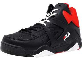 Fila Men's The Cage Black / White Red High-Top Basketball Shoe - 13M