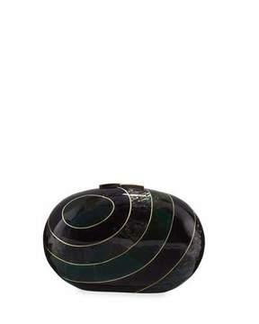 Rafe Liz Geometric Oval Minaudiere, Green Tab/Multi