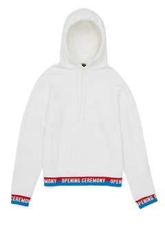Opening Ceremony Fleece Back Terry Elastic Logo Hoodie
